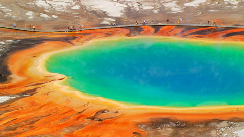 Grand Prismatic Spring Footage