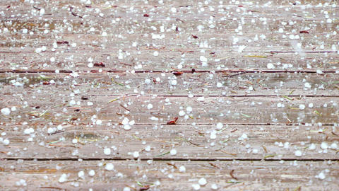 Hail Storm Stock Video Footage