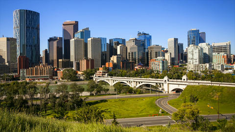 Calgary Skyline Time Lapse Footage