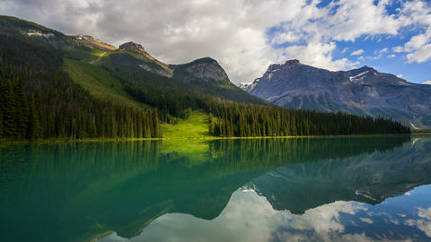 Emerald Lake, Time Lapse Stock Video Footage