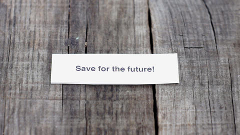 Save for the future Stock Video Footage
