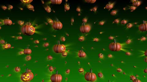 Halloween Pumpkins Falling Background Stock Video Footage