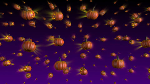 Halloween Pumpkins Falling Background Animation