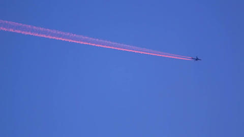 Pink contrails Footage