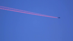 Pink contrails Stock Video Footage