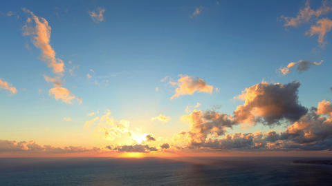 Timelapse sunset on the sea. Earthquake. FULL HD Stock Video Footage