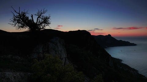 Timelapse sunrise in the mountains Koosh-Kaya. Cri Stock Video Footage