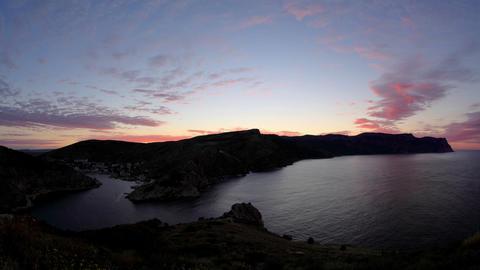 Timelapse sunrise in the mountains. Balaklava, Cri Stock Video Footage