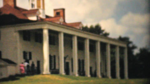George Washington Home In Mount Vernon 1940 Vintag stock footage