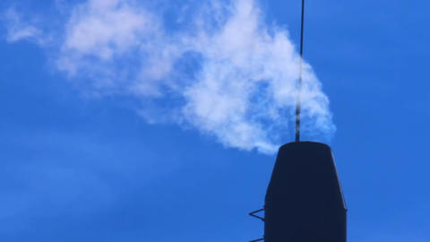 smoke out Stock Video Footage
