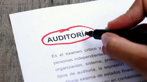 Circling Audit with a pen (In Spanish) Footage