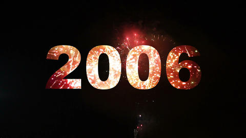 2000-2014 fireworks 01 Stock Video Footage