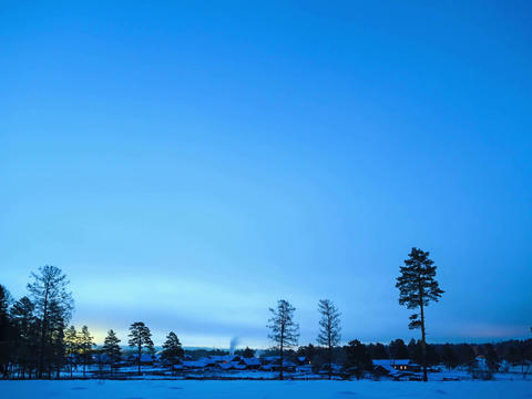 Dawn In The Village. Time Lapse. 4x3 stock footage