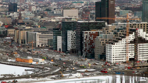 Morning traffic. Oslo, Norway Stock Video Footage