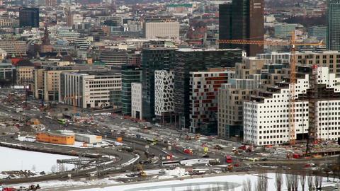 Morning traffic. Oslo, Norway Footage