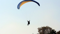 PARAGLIDER LANDING Stock Video Footage