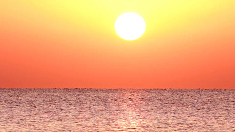 sunrise over sea - timelapse Stock Video Footage