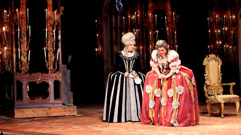 The premiere of the historical opera David Tukhman Stock Video Footage