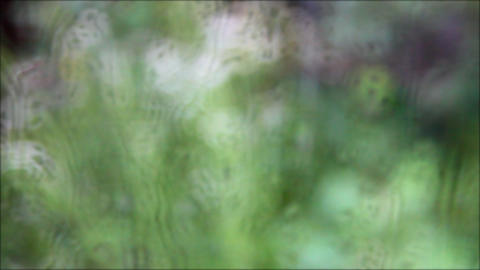 defocused glass windows with raindrops Footage
