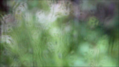 defocused glass windows with raindrops Stock Video Footage