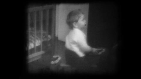 old family movie shown on a film projector Stock Video Footage