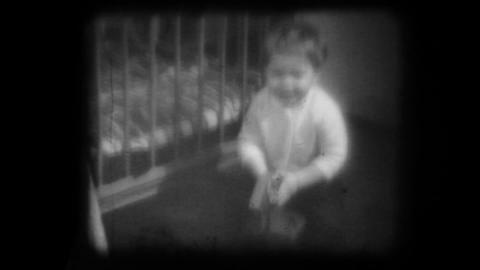 old family movie shown on a film projector Footage