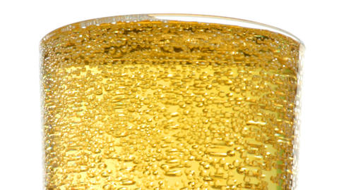 bubbles in glass with beer macro Stock Video Footage