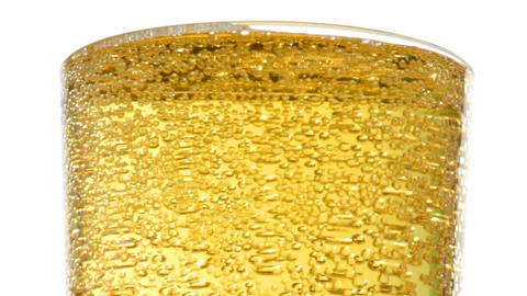bubbles in glass with beer macro Footage