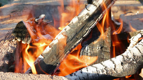 fireplace with burning flame Stock Video Footage
