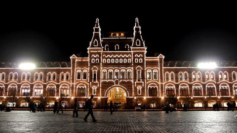 "GUM"" shop on Red square in Moscow"" Footage"