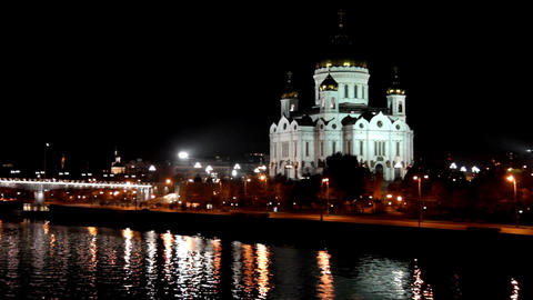 Christ the Savior Cathedral in Moscow - timelapse Stock Video Footage