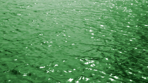 green sea water background Stock Video Footage