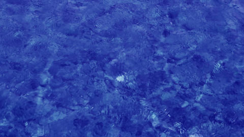 blue water background in shallow Stock Video Footage
