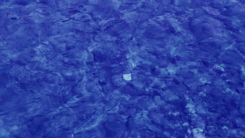 blue water background in shallow Footage