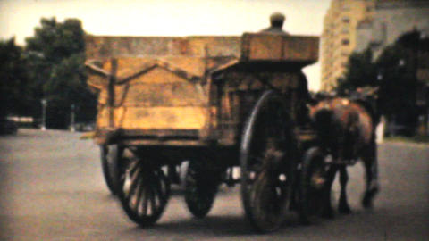 Horse Drawn Carts On Streets Of Philadelphia 1940 Stock Video Footage