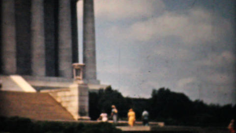 Lincoln Memorial Washington DC 1940 Vintage 8mm fi Stock Video Footage