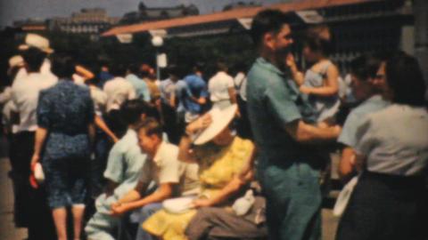 Lincoln Memorial Washington DC 1940 Vintage 8mm fi Stock Video Footage