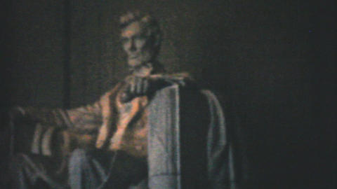 Lincoln Memorial Washington DC 1940 Vintage 8mm fi Footage