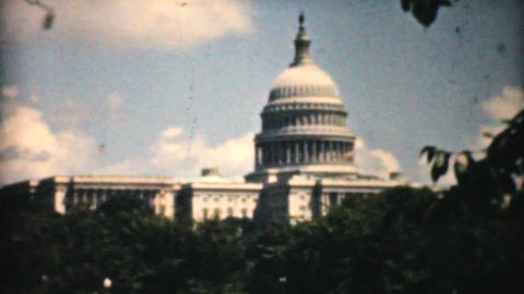 United States Capitol Building Washington DC 1940 stock footage