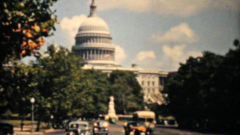 United States Capitol Building Washington DC 1940 Stock Video Footage