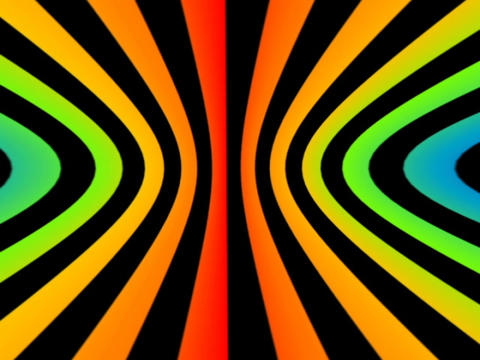 3D Concentric Circles #1 Stock Video Footage