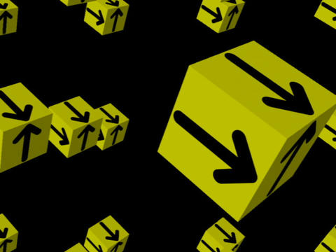 Yellow Cube Space #3 Stock Video Footage