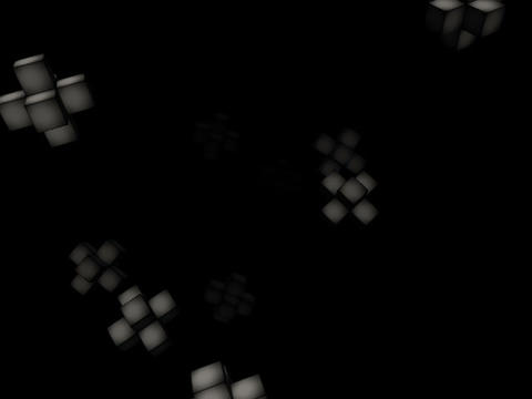 Floating Cubes #2 Stock Video Footage