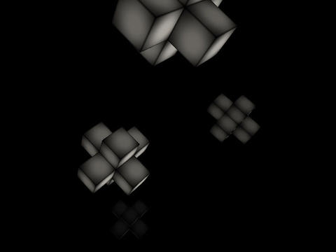 Floating Cubes #4 Stock Video Footage