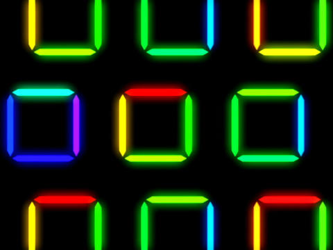 Colorful Square Pattern #1 Stock Video Footage