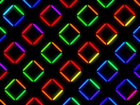 Colorful Square Pattern #3 stock footage