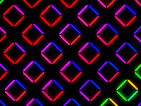 Colorful Square Pattern #3 Stock Video Footage