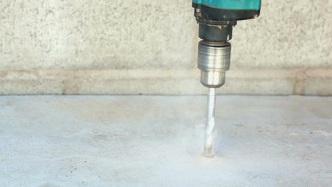 Industrial Concrete Drilling Stock Video Footage