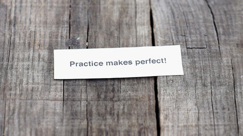 Practice Makes Perfect Stock Video Footage
