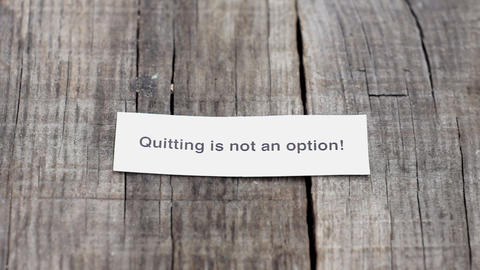 Quitting is not an Option Stock Video Footage